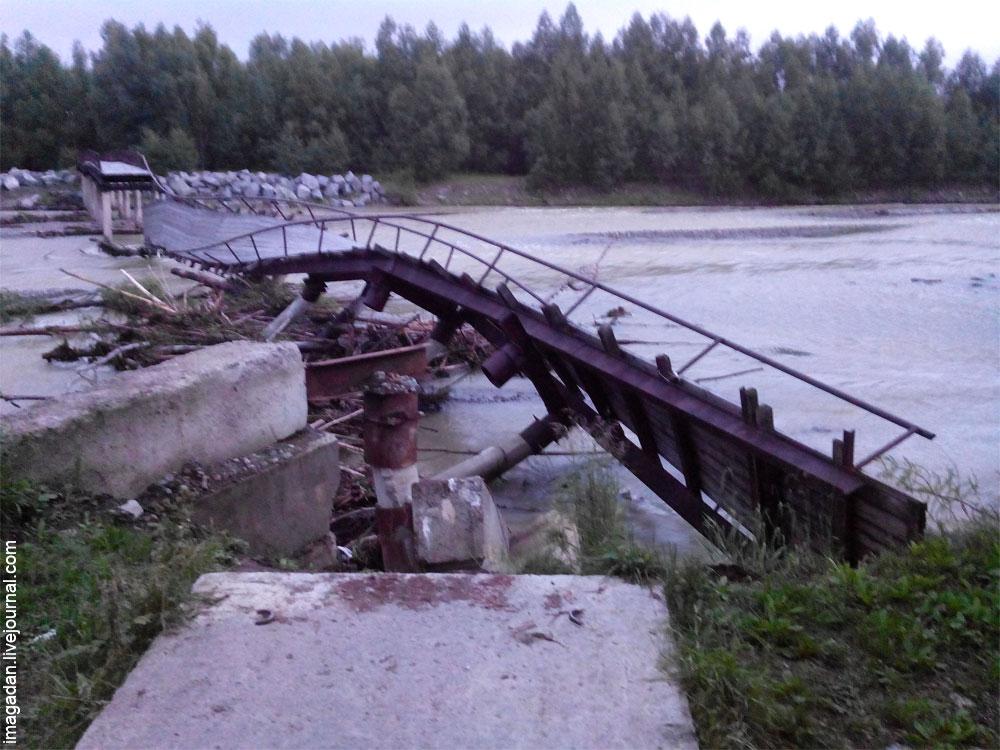 Бобик сдох и мост через реку Хасын