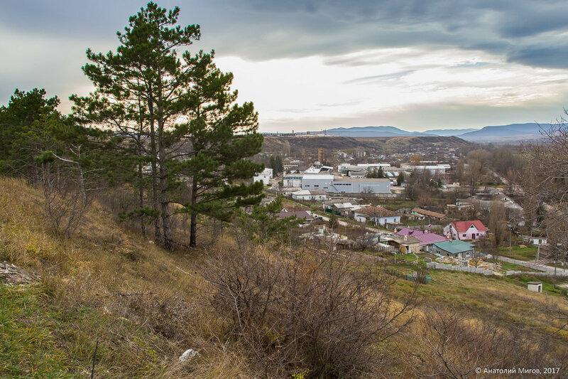 Вид на Золотое поле и Крымские горы