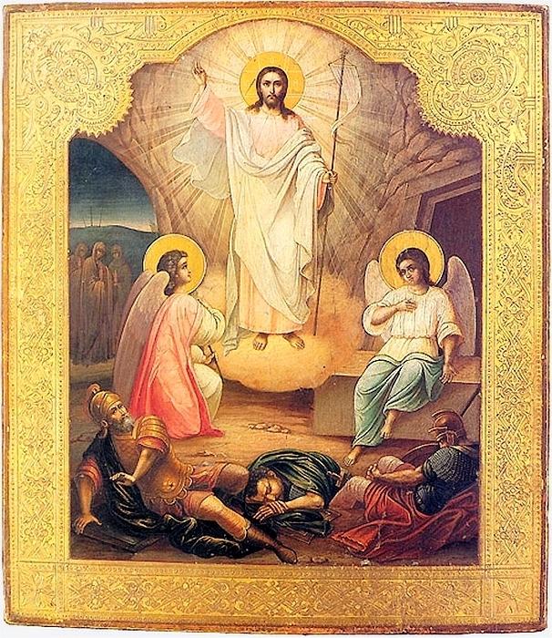 """"""" Воскресение Христово """" Александр Кузнецов.1898 г. Палех."""