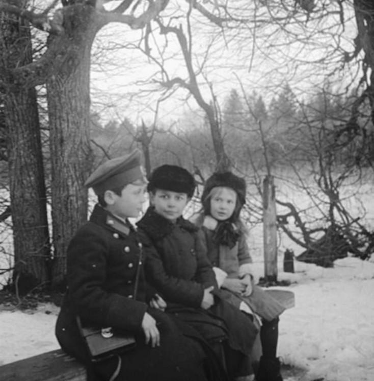 Дети в зимнем парке