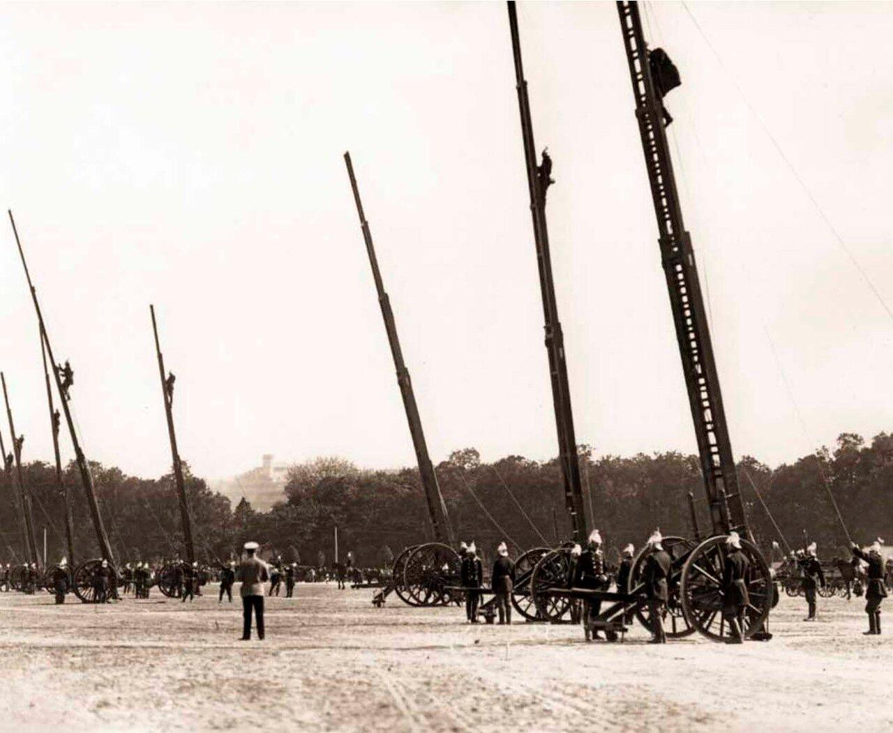 1909. Смотр пожарных частей на Марсовом поле.