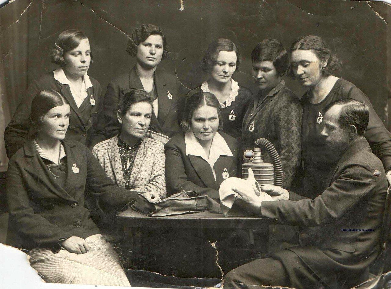 1937. Учения в Мелекесском отделении ОСОАВИАХИМ по подготовке к противохимической обороне