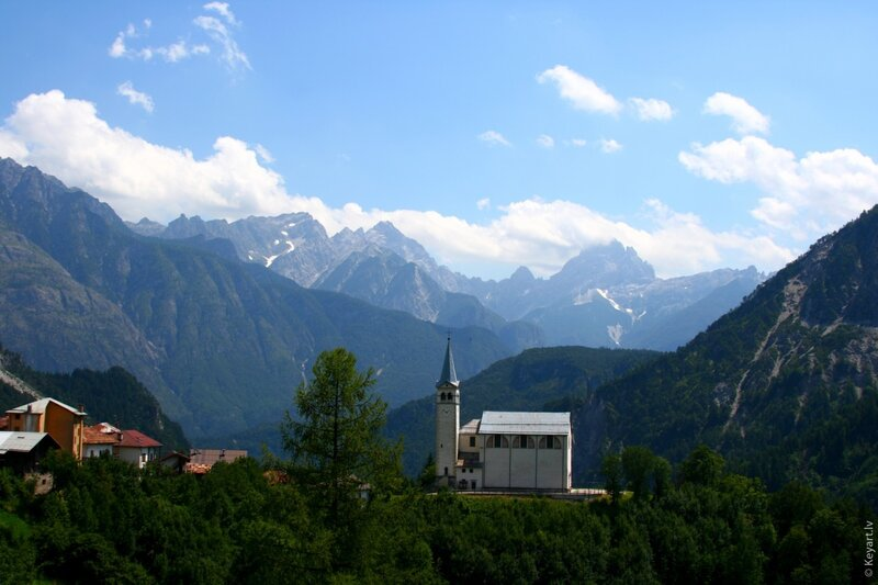 Church on Italian mountains