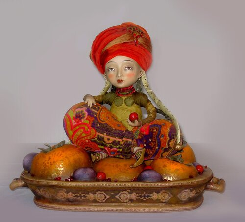 """Date-plum"" – art doll by Anna Zueva"