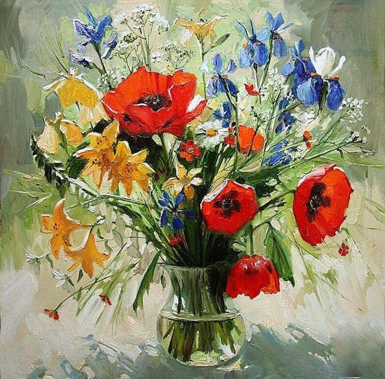 Картинки букетов цветов полевых