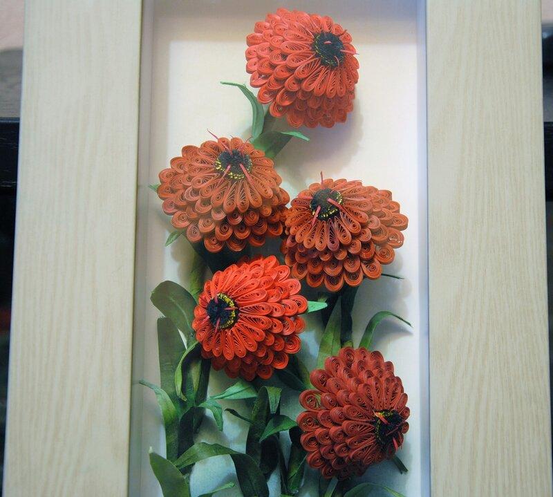 Квиллинг цветов, творчество бумагокручения