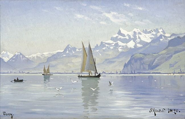 Художник Peder Mork Monsted