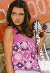 Вязание для женщин. из мотивов. жилеты, топы.  06 июня 2011. топ.  Топ. из цветочных мотивов связан...