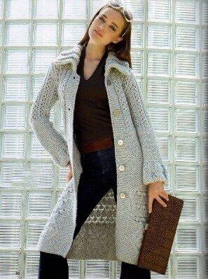 Модели вязаное пальто
