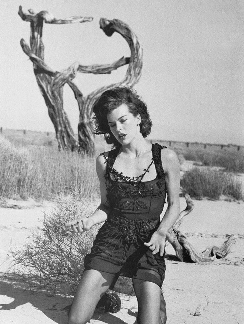 модель Милла Йовович / Milla Jovovich, фотограф Peter Lindbergh