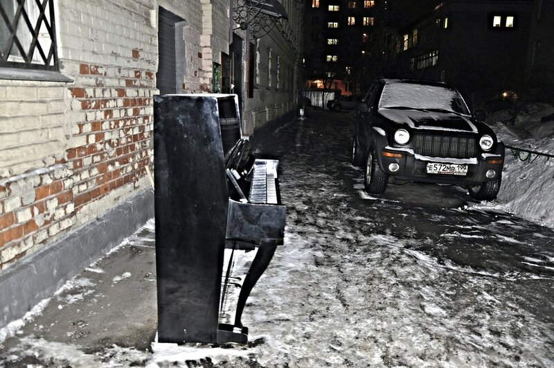 встреча на парковке