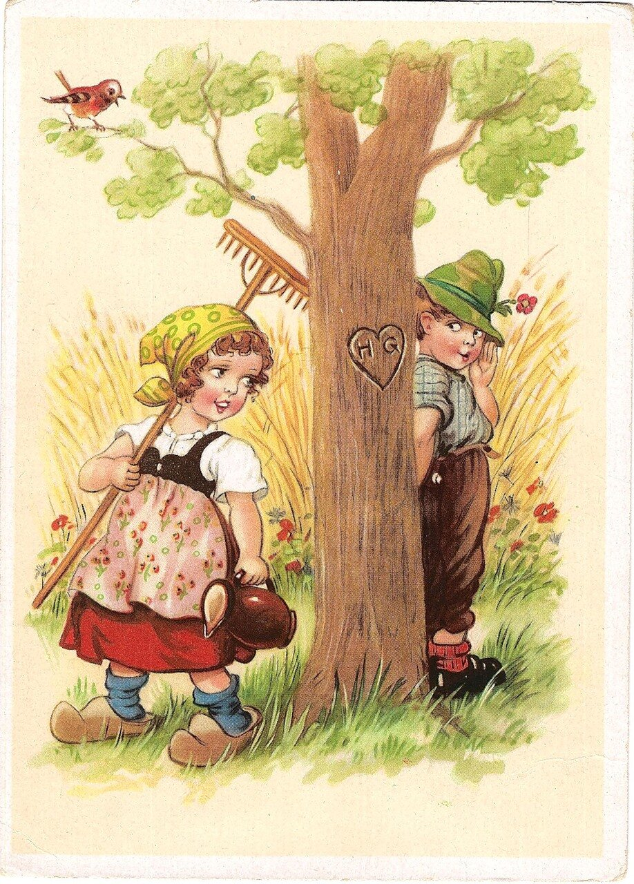 Надписью, немецкие открытки 50 годов