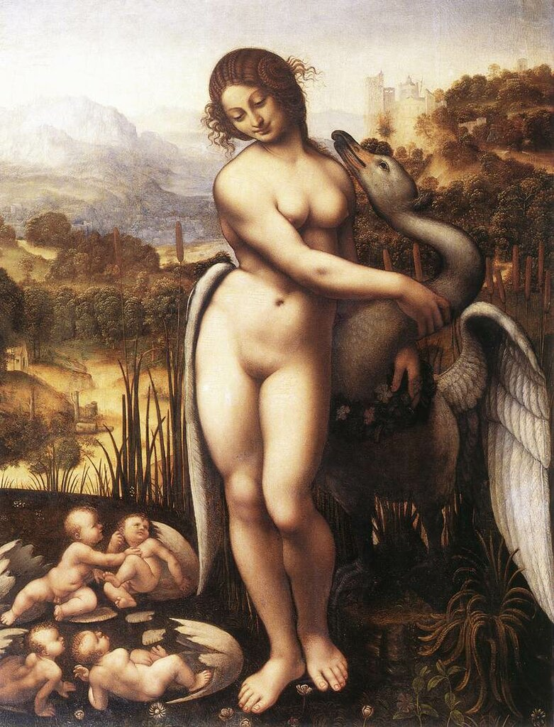 Leda and the Swan by CESARE da Sesto
