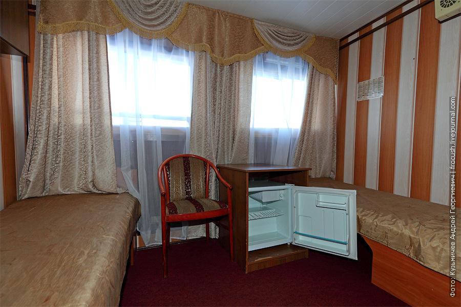 Двухместная каюта увеличенной площади с удобствами №17. Категория каюты А2+(I). Теплоход «Башкортостан»