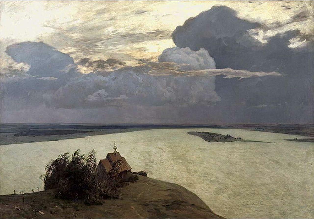 Левитан Исаак Ильич,  Над вечным покоем, 1894