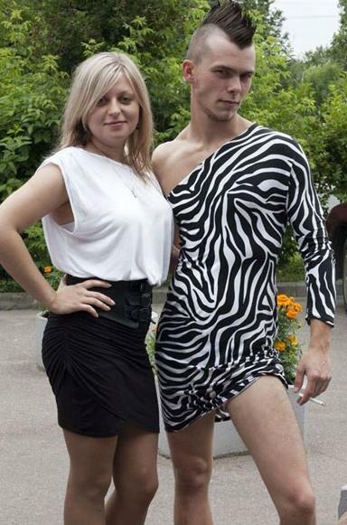 В Минске выпускник вуза пришел за дипломом в костюме зебры