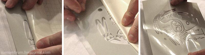 Простейший способ нанести сложный рисунок на ткань. Sumumbrum