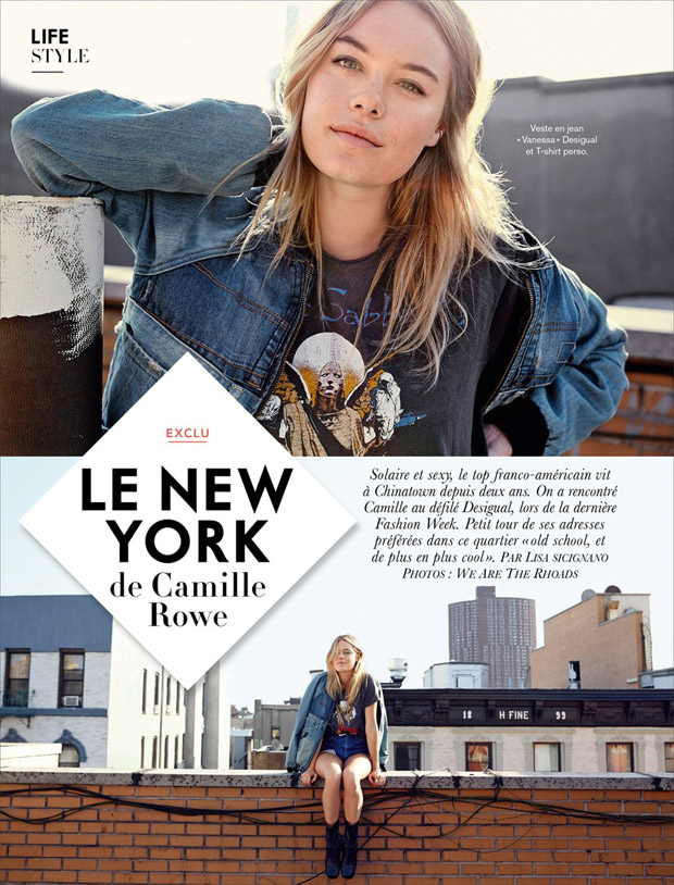 Камил Роу (Camille Rowe) в журнале Glamour France