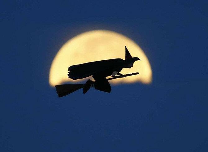 Тематические фильмы ужасов часто используют мотив ведьм или полнолуния, которое, действительно, очень редко происходит в этот день. (Фото: Mike Blake/REUTERS).