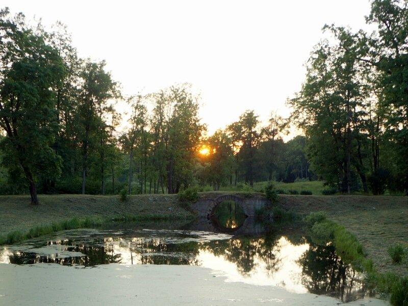 Закат в Александровском парке