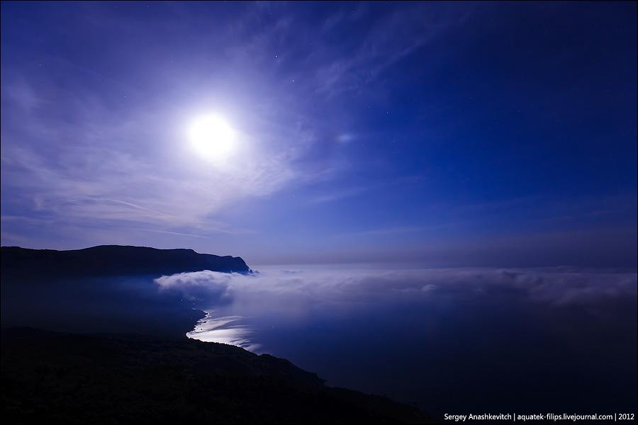 Ночь над облаками