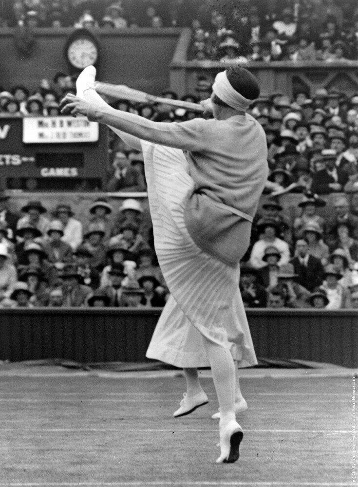 Французская теннисистка Suzanne Lenglen (1899-1938) 1924