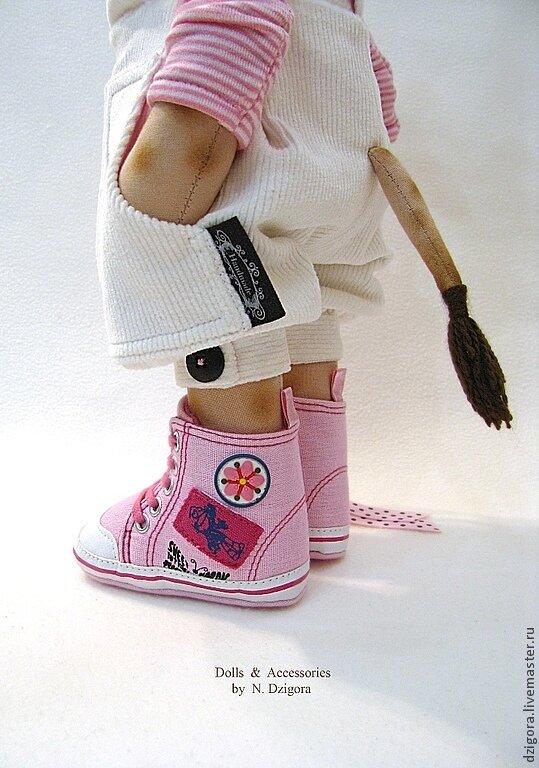 Сшить кеды для куклы