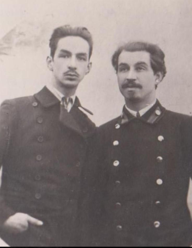 Бекзадян Рубен Артемьевич - большевик (справа) и Гааке Сергей - провокатор