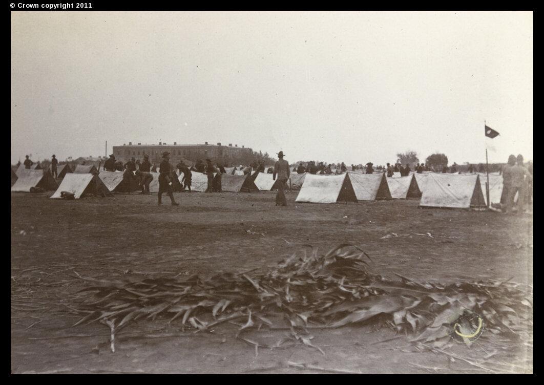 Американский лагерь 6-го кавалерийского полка