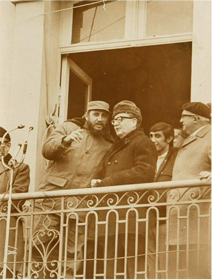 Фидель Кастро в гостях у Сальвадора Альенде в декабре 1971 года