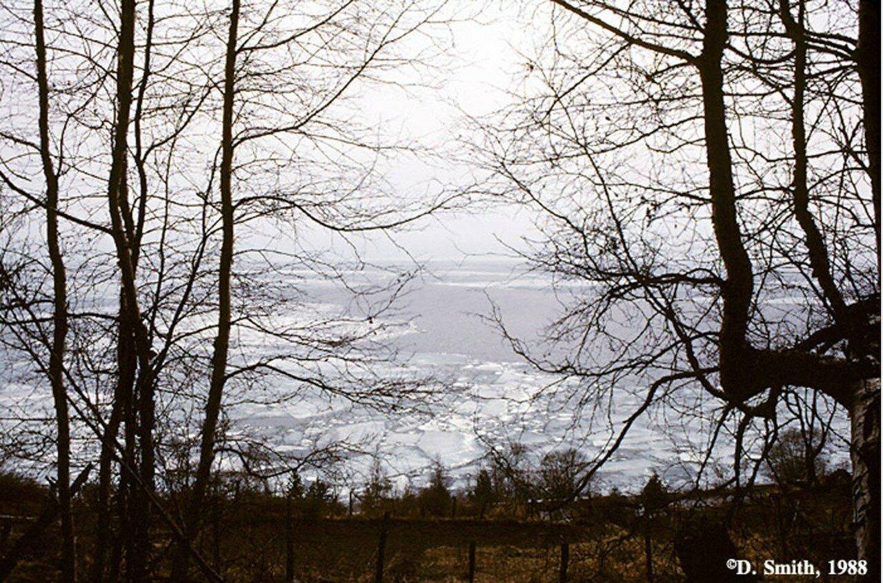 Вид Байкала из поселка Листвянка