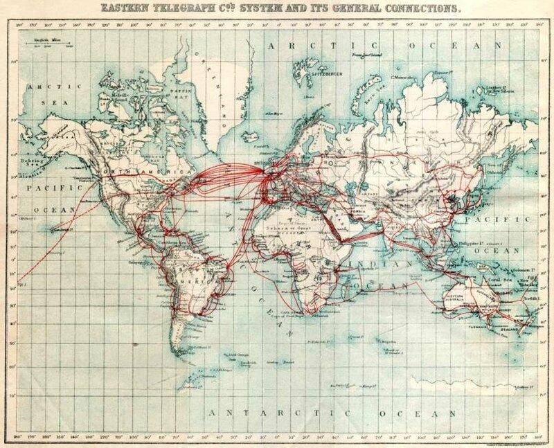 карта подводных коммуникаций 1901