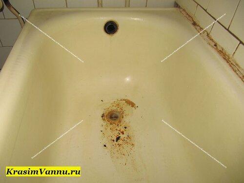 Эмалированная ванна в Москве krasimvannu.ru ДО эмалировки