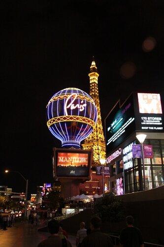 Воздушный шар во французском районе Лас-Вегаса