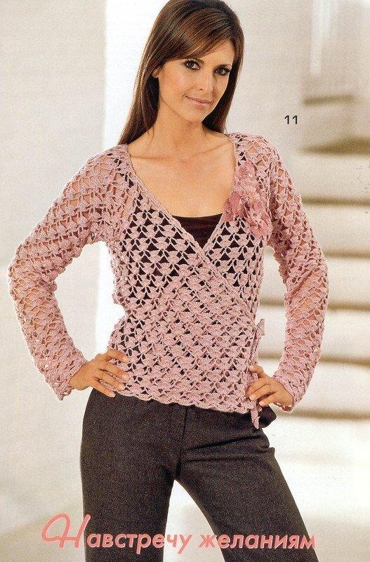 Роскошные ажурные вязаные кофты - для женщин знающих себе цену.  Умение носить женские вязаные жакеты и не выглядеть...
