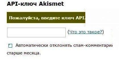 0 54ade 9dbbd08d L Как  получить API key  для плагина  Akismet ?