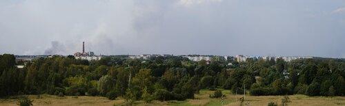 Ликино-Дулёво. Вид с 7-го этажа заброшенного профилактория.