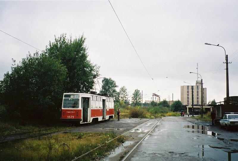 Санкт-Петербург, трамвайный вагон 1579.