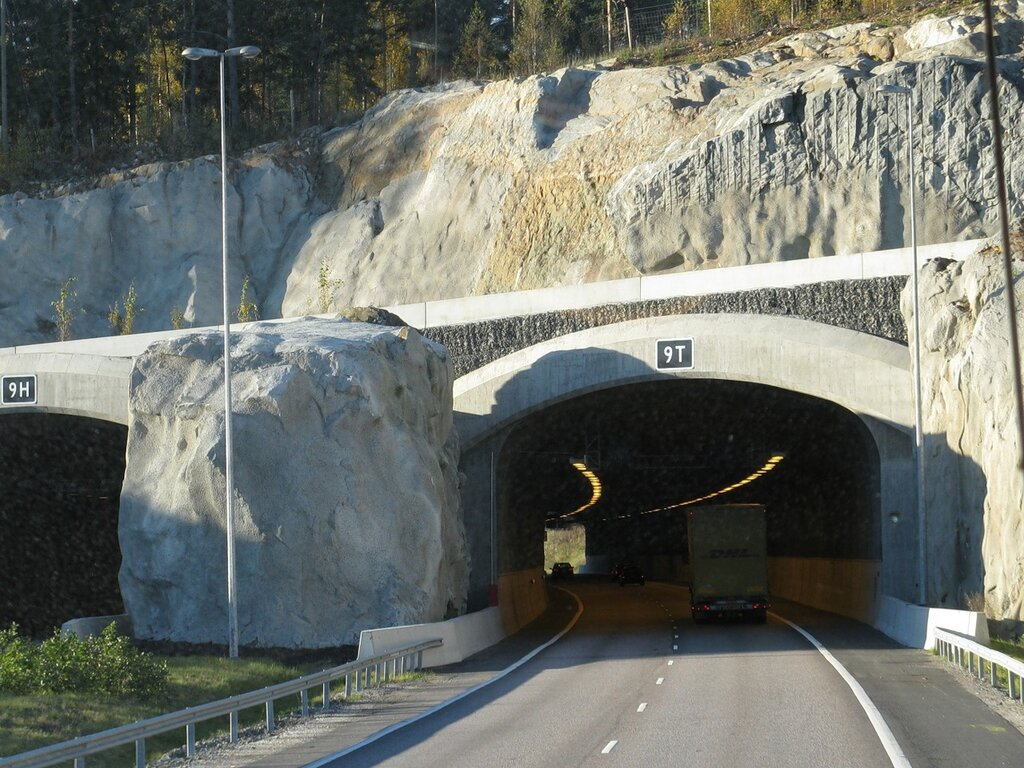 Finland. E18 Highway. Helsinki-Turku