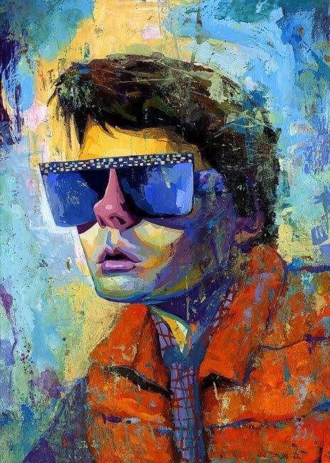 "иллюстратор Rich Pellegrino.Marty McFly"""