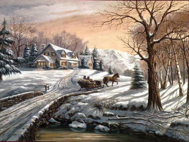 Картины известных художников о зиме картинки