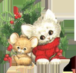 gato navidad ilustraciones