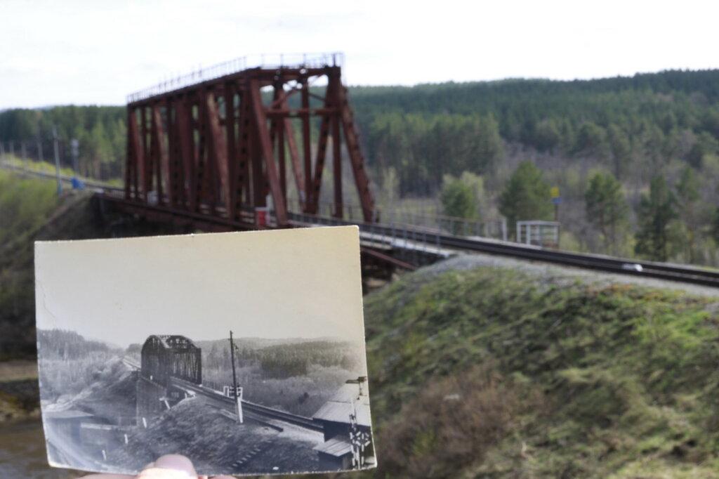 сравнение старого и нового фото жд моста