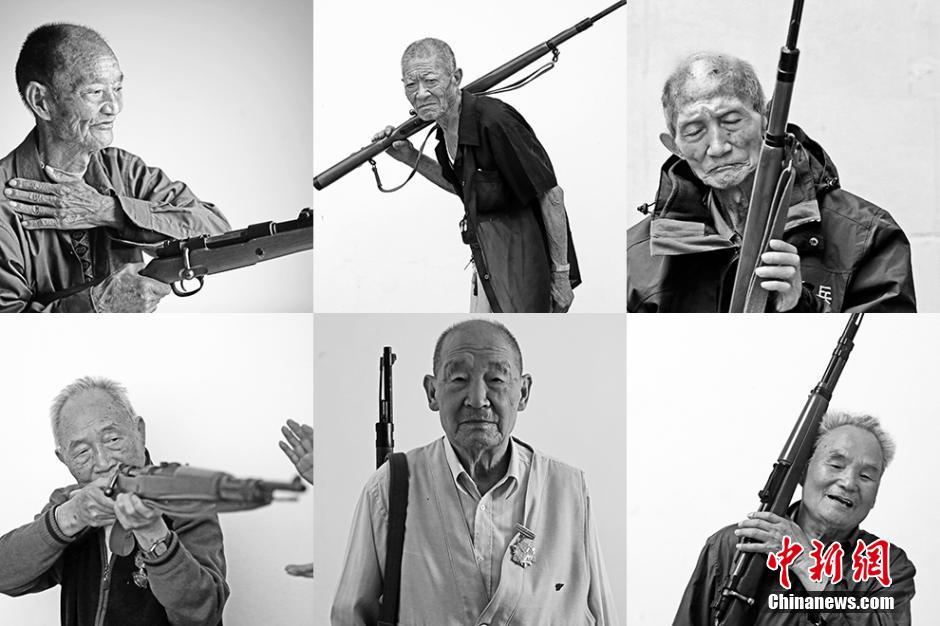 Китайские ветераны снова взяли в руки оружие