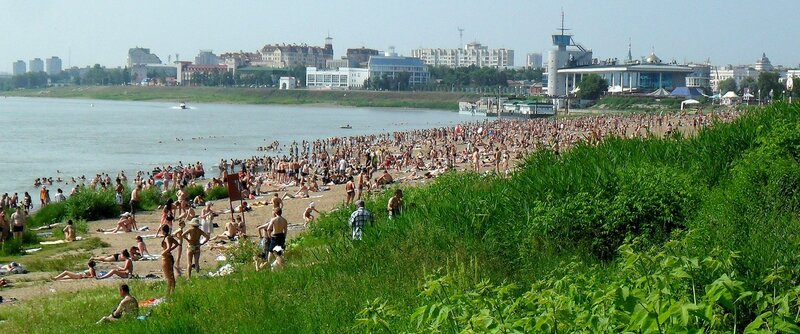 Куйбышевский пляж в 2012 году
