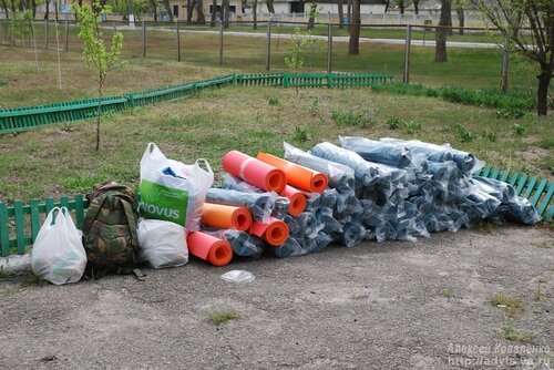 Передача помощи для ребят в Десне