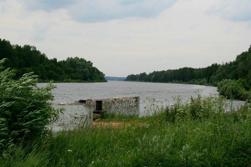 Пестовско-Икшинский соединительный канал, Старая паромная переправа