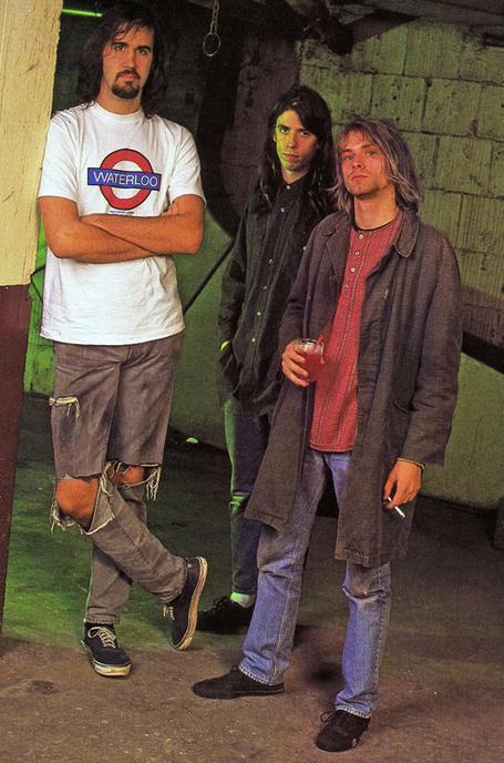 Krist Novoselic  Dave Grohl Kurt Cobain Nirvana