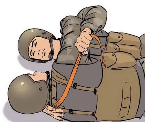 Ранение в шею - Наложить жгут через подмышечную впадину