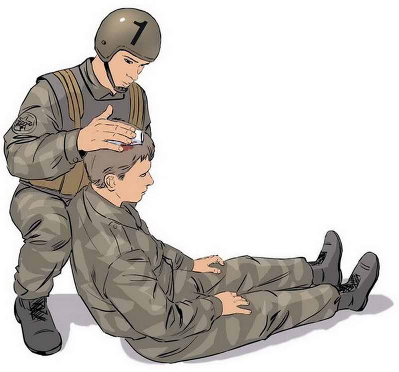 Оказание помощи в случае ранения головы - 1